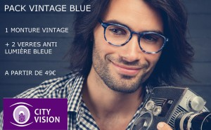 AFFICHE PACK VINTAGE BLUE CITY